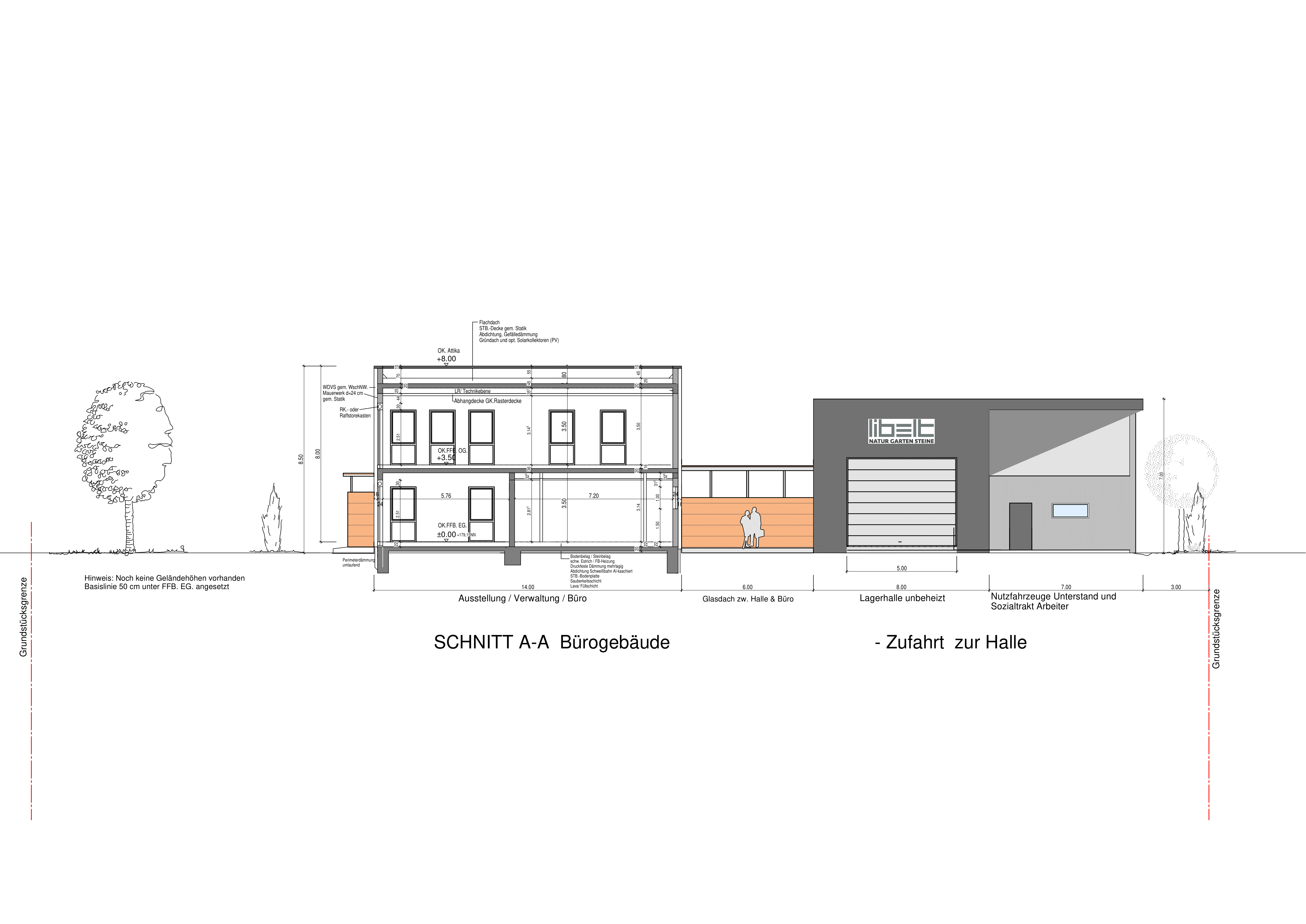 Grundriss Bürogebäude