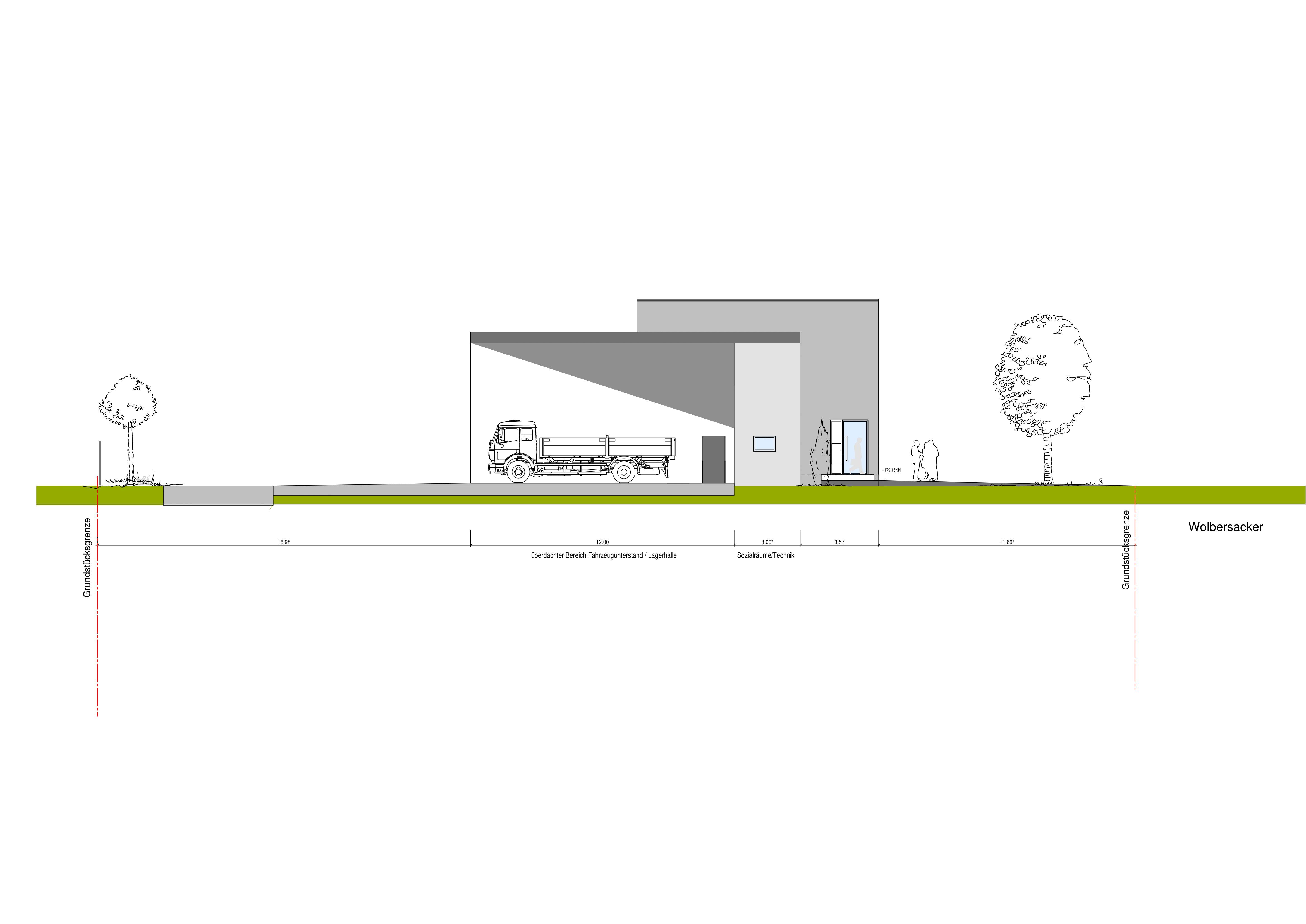 Grundriss Lagerhalle