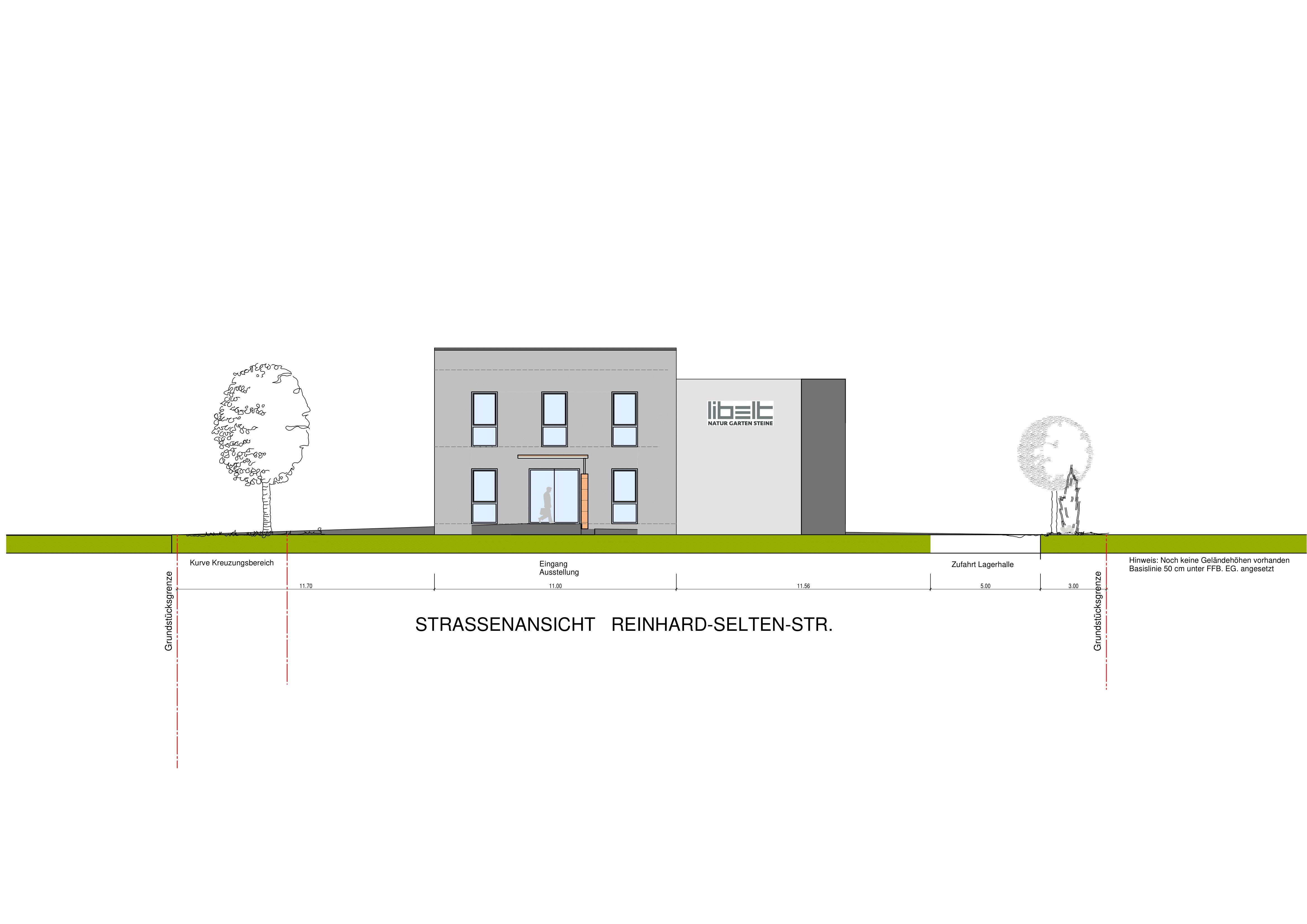 Straßenansicht Bürogebäude